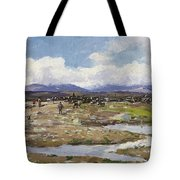 Reindeer On The Mountain Tote Bag