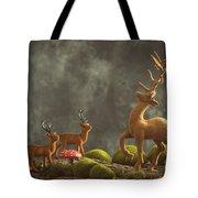 Reindeer Scene Tote Bag