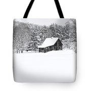 Remote Cabin In Winter Tote Bag