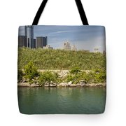 Renaissance Center In Detroit  Tote Bag