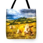 Resting Cows Art Tote Bag