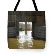 Richmond Floodwall Opening For Canal Tote Bag