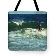 Riding Easy - Jersey Shore Tote Bag by Angie Tirado