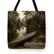River Boat Filled With Water Tote Bag