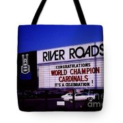 River Roads Mall Marquee Sign  Tote Bag