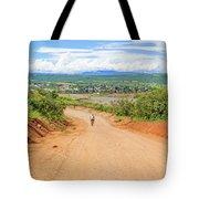 Road Landscape In Tanzania Tote Bag
