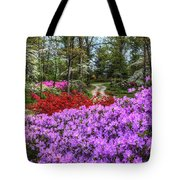 Road With Flowers Tote Bag