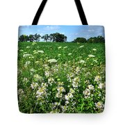 Roadside Wildflowers In Mchenry County Tote Bag