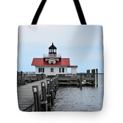 Roanoke Marshes Lighthouse Tote Bag