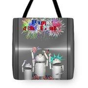 Robo-x9 Celebrates Freedom Tote Bag