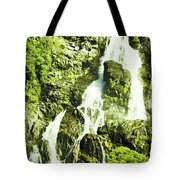 Rocky Mountain Waterfall Tote Bag