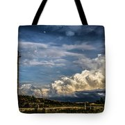 Silo Before The Storm. Tote Bag