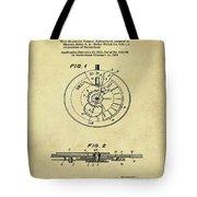 Rolex Watch Patent 1999 In Sepia Tote Bag