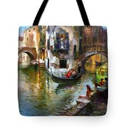 Romance In Venice Tote Bag