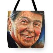 Ronald Reagan Portrait Tote Bag