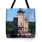 Rondout Lighthouse On The Hudson River New York Tote Bag