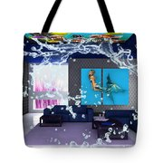 Rooftop Saltwater Fish Tank Art Tote Bag