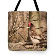 Rooster In The Woods Tote Bag