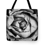 Rose Closeup In Monochrome Tote Bag