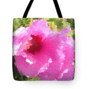 Rose Of Sharon In Abstract Tote Bag
