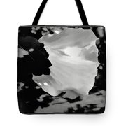Rose Of Sharon In Black And White Tote Bag