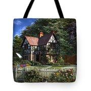 Roses House Tote Bag