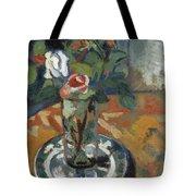 Roses In A Vase Tote Bag