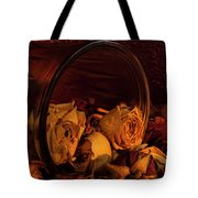 Roses Spilling Out Of Vase Tote Bag