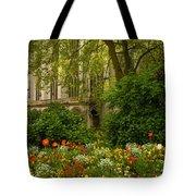 Rouen Abbey Garden Tote Bag
