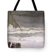 Rough Sea At Etretat Tote Bag