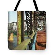 Route 66 - Chain Of Rocks Bridge Tote Bag