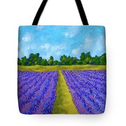 Rows Of Lavender In Provence Tote Bag