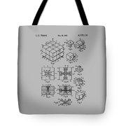 rubik's cube Patent 1983 Tote Bag