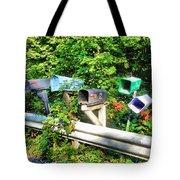 Rural Mailboxes  Tote Bag