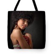 Russian Pin-up Girl Tote Bag