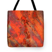 Rust Abstract Tote Bag