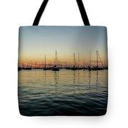 Sailboats At Sunrise  Tote Bag