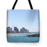 Sailboats In The Mediterranean Sea  Tote Bag