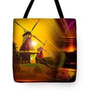 Sailing Romance Windmills Tote Bag