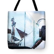 Sailing Within The Bottle Tote Bag