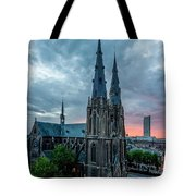 Saint Catherina Church In Eindhoven Tote Bag by Semmick Photo