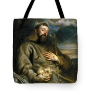 Saint Francis Of Assisi In Ecstasy Tote Bag