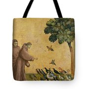 Saint Francis Of Assisi Preaching To The Birds Tote Bag
