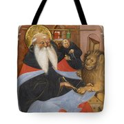 Saint Jerome Extracting A Thorn From A Lion's Paw Tote Bag