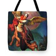 Saint Michael The Warrior Archangel Tote Bag