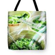 Salad Bar Buffet Fresh Mixed Lettuce Display Tote Bag