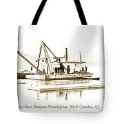 Salvage Barge, Delaware River, Philadelphia, C.1900 Tote Bag