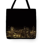 San Francisco Nighttime Skyline Tote Bag