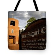 San Miguel Mission Church Tote Bag