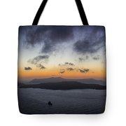 Santorini Caldera Sunset Tote Bag
